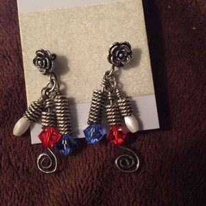 Jewelry - SOLD *** Handcrafted earrings red white and blue